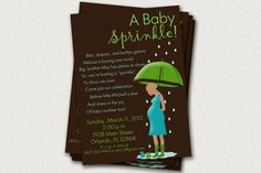 Baby Sprinkle Invitations Rain Themed by LeitsisPieces