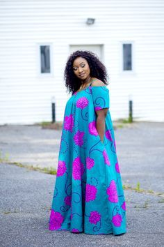 DIY plus size fashion Source by myckamonah African Maxi Dresses, African Attire, African Wear, African Clothes, African Women, New Dress Pattern, Simple Gowns, African Print Fashion, Plus Size Fashion