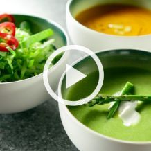 3 Soups: Carrot, Asparagus & Chicken Cilantro Soup (That's Fresh with Helen Cavallo)