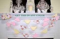 Hey, I found this really awesome Etsy listing at https://www.etsy.com/listing/247373807/tea-for-two-garland-alice-in-wonderland