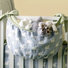 Lullaby Sheep Toy Bag and Nursery Kid Bedding Sets in Bedding : Baby Bedding Accessories at PoshTots
