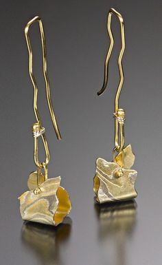 crazyaboutgoldjewelry: Whistler Earrings: Lisa Jane Grant