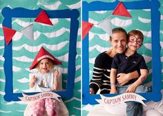 Another take on Sailing party theme well done Nautical Photo Booth, Diy Photo Booth, Nautical Party, Photo Booth Frame, Nautical Wedding, Sailing Party, Sailing Theme, Ocean Party, Sailing Boat