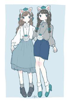 """あやた trên Twitter: """"ディズニーシー コーデ🐻🎀🎨🐰… """" Anime Outfits, Disney Outfits, Pretty Art, Cute Art, Character Art, Character Design, Anime Flower, Duffy The Disney Bear, Drawing Tips"""