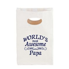 World's Most Awesome Papa Canvas Lunch Tote