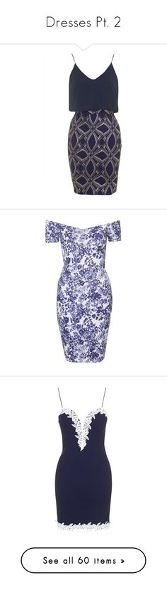 """""""Dresses Pt. 2"""" by taborbot ❤ liked on Polyvore featuring dresses, bodycon dress, body conscious dress, blue body con dress, blue dress, blue bodycon dress, short dresses, blue, floral bodycon dress and short blue dress"""