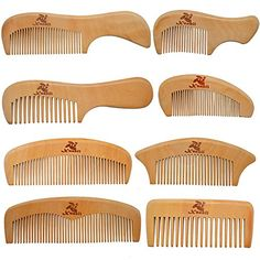 Xuanli 8 Pcs The Family Of Hair Comb - Wood with Anti-Static & No Snag Handmade Brush for Beard, Head Hair, Mustache With Gift Box Beard Head, Wood Comb, Best Hair Dryer, Tangled Hair, Hair Tools, Hair Comb, Mustache, Hair Pieces, The Balm