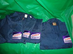 4 Vintage Federal Express Uniform Shirts Extra Large Short Sleeve collectibles Big Ben by Wrangler Mechanic Work Clothes costume find me at www.dandeepop.com