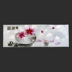 Dipinto a mano composizione moderna ciotola con fiori di gelsomino
