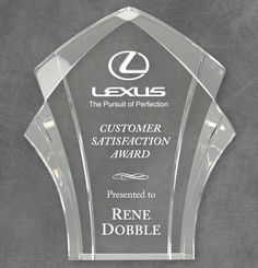 Our Panache Acrylic Award features an intriguing cut of thick acrylic with an area for laser engraving for personalization. 84406 is 84407 is & 84408 is tall, all include free engraving. Acrylic Trophy, Acrylic Awards, Trophy Design, Thing 1, Laser Cutting, Laser Engraving, Clear Acrylic, Different Colors, Appreciation