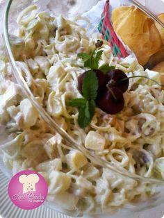 Salada de Alho Poró com Maçã Verde
