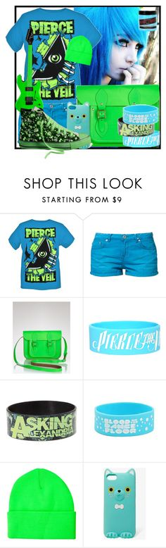 """""""green and blue!"""" by designergirl2000 ❤ liked on Polyvore featuring LTB by Little Big, The Cambridge Satchel Company, Manic Panic NYC, The Ragged Priest, Forever 21 and Converse"""