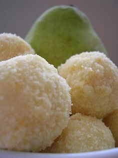 White Chocolate Truffles Infused with Pear Skins, Wildflower Honey and Nutmeg