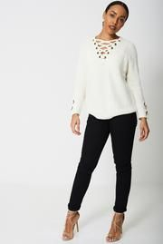 Chunky Cable Knit Jumper In White – Mahoganyfair