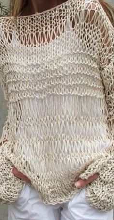 DIY - 20 Inspirations for your knitting fabric- Verónica Stuto- # clothing # . - DIY – 20 inspirations for your knitting fabric- Verónica Stuto- # clothing # Inspiratio - Knitting Blogs, Knitting Projects, Crochet Projects, Hand Knitting, Knitting Patterns, Crochet Patterns, Loose Knit Sweaters, Knit Fashion, Clothing Patterns