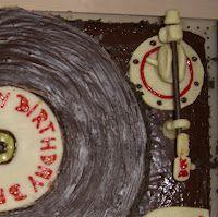 Plattenspieler-Torte