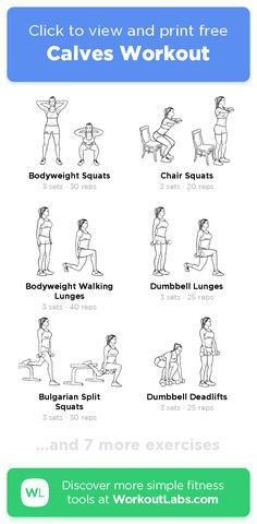 Floor Workouts, Easy Workouts, At Home Workouts, Home Strength Training, Calf Exercises, Reps And Sets, Weight Loss Workout Plan, Belly Fat Workout, Workout Programs