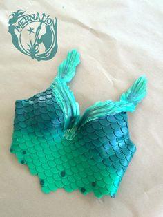 Sosten para Sirenas color Aqua Marina | Caracolas