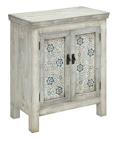 Look at this #zulilyfind! White & Blue Joyceville Two-Door Cabinet #zulilyfinds