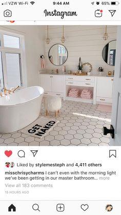 Dream Bathrooms, Dream Rooms, Beautiful Bathrooms, Teen Bathrooms, Master Bathrooms, Shiplap Master Bathroom, White Bathrooms, Small Bathrooms, Bathroom Inspiration