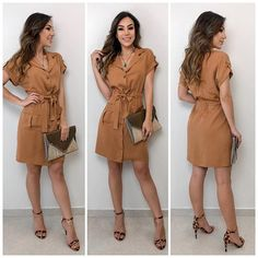 Fashion Now, Work Fashion, Skirt Fashion, Fashion Dresses, Stylish Clothes For Women, Stylish Outfits, Safari Dress, Short Summer Dresses, Hijab Fashion Inspiration