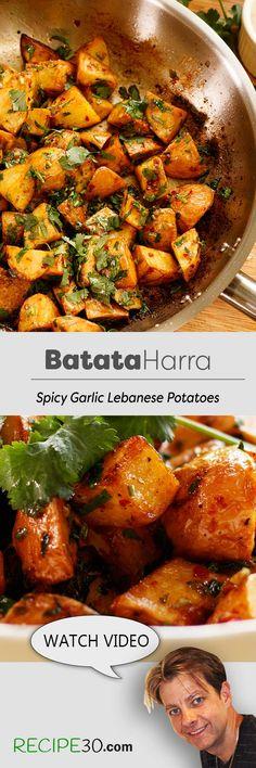 Lebanese Batata Harra Spicy Garlic Potatoes