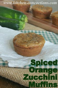 Spiced Orange-Zucchini Muffins #recipe #breakfast #muffins