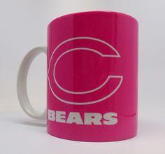 US $14.00 New in Sports Mem, Cards & Fan Shop, Fan Apparel & Souvenirs, Football-NFL Nfl, Football, Pink Gifts, Chicago Bears, Presents, Ceramics, Mugs, Tableware, Sports