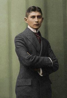 Franz Kafka colourised by dontforgetfrank on deviantART