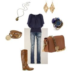 This would work with my burgundy shirt, brown paparazzi jewelry and flat brown boots.