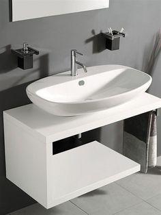 Meuble vasque contemporain / en bois / suspendu / avec miroir - FUN - OPEN - MASTRO FIORE BATHROOM DIVISION