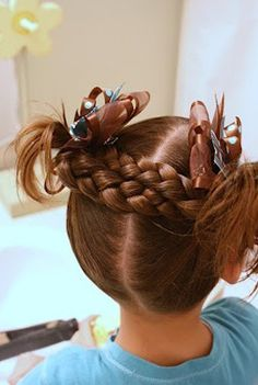 braided hairstyle for little girls
