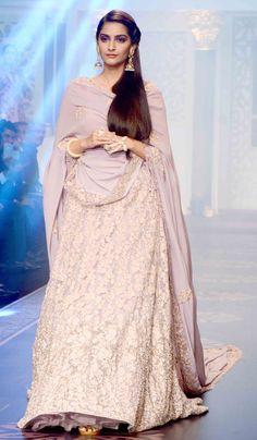 Sonam Kapoor walks the ramp for designers Shyamal and Bhumika at the India International Jewellery Week 2015.