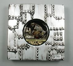Cat and mouse (Pzkpfw VIII MAUS) Sculpture. Histo-Cyber-Steam-Punk. Unique piece of art. Two in one: medallion and image to hang on the wall. http://polandhandmade.pl  #‎polandhandmade #dieselpunk #tryb #jewelry #cat #tank