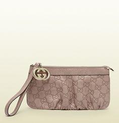 guccissima leather interlocking G wrist wallet