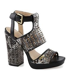 Calvin Klein Vallin SnakePrint Platform Sandals #Dillards