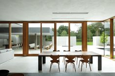 Further Lane House | Architect Magazine | Tod Williams Billie Tsien Architects | Partners, Amagansett, New York, Single Family, New Construction, Architectural Detail, Dining Room, Exteriors, Entryway, Modern, Masonry Construction, Daylighting