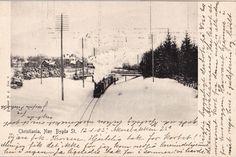 Christiania Kristiania Nær Bygdø st. med damplok. Brukt 1905
