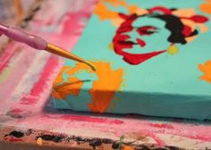 How to make a distressed folk art-style painting. DIY tutorial step 7 via lilblueboo.com