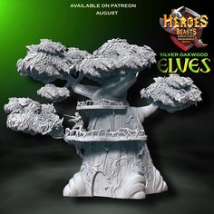 Silver oak Elf tree - included in august patreon rewards.  #dungeonsanddragons #rpg #d20 #roleplay #nerd #geek #dice #dnd5e #roleplayinggame #tabletopgames #dungeonmaster #gaming #tabletopgaming #fantasy #wargames #gamesworkshop #warhammer #warhammer40k #miniature #coolminis #minipainting #miniatures #dnd #patreon #art #supportlivingartists #dnd #minianturednd # dndminis #3dprint #zbrush Tabletop Rpg, Tabletop Games, Dungeons And Dragons Characters, Because I Love You, D 20, Mini S, Mini Paintings, Nerd Geek, Zbrush