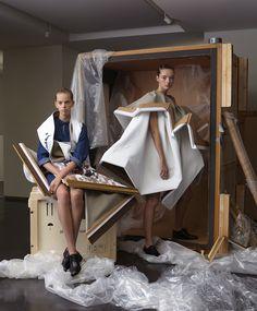 EDITORIAL / L'OFFICIEL INDIA / VIKTOR&ROLF V&R Haute Couture  PHOTOGRAPHER | LUCIA GIACANI STYLIST | ALBA MELENDO HAIR | TOMMY HAGAN @Angelique Hoorn MAKE-UP | YOKOW @Angelique Hoorn LIGHTING | HYUNG BALKEMA LOCATION | 5&33 GALLERY AMSTERDAM MODELS | ESSIE, JITTE, STORM & JAN @ELITE VIKTOR HORTING & ROLF SNOEREN