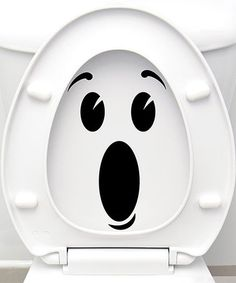 Surprised Face Vinyl Decal Set maybe they'll be better about putting the seat down? Sticker Toilette, Stickers Wc, Wall Stickers Cool, Wc Decoration, Ambiance Sticker, Surprise Face, Bathroom Decals, Wall Painting Decor, Wall Drawing