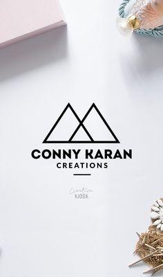 Mountains Logo Design. Photography Logo Template. Editable PSD