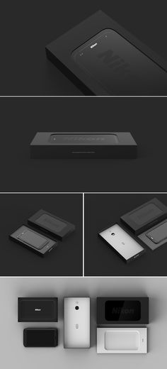 This is a short experimental project that explores the boundaries of the progressing smartphone and the tactile camera button. Packing Boxes, Small Boxes, Box Design, Industrial Design, Packaging Design, Nikon, Branding, Projects, Behance