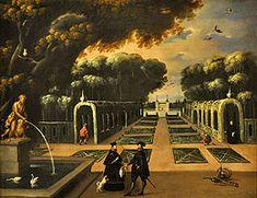 Vista de los jardines del Retiro (siglo XVII) Museo de Burgos
