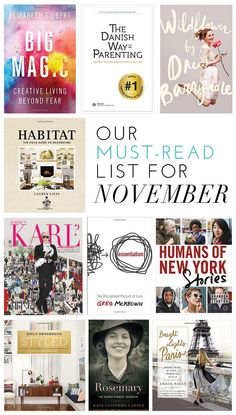 Our Must-Read List For November | glitterguide.com