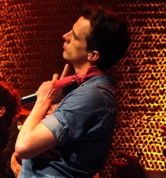 Brian Holden with what looks like a Meredith drawing on his hand