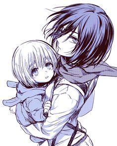 Mikasa and little Armin // AoT