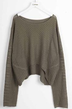 Cupshe Ready For Anything Hollow Crop Sweater
