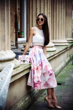 Galina Thomas: Look of the Day: Summer and the City (Part I) Color block midi skirt